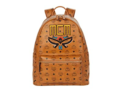 MCM Stark Tribal Laurel Backpack Medium (Cognac) Backpack Bags