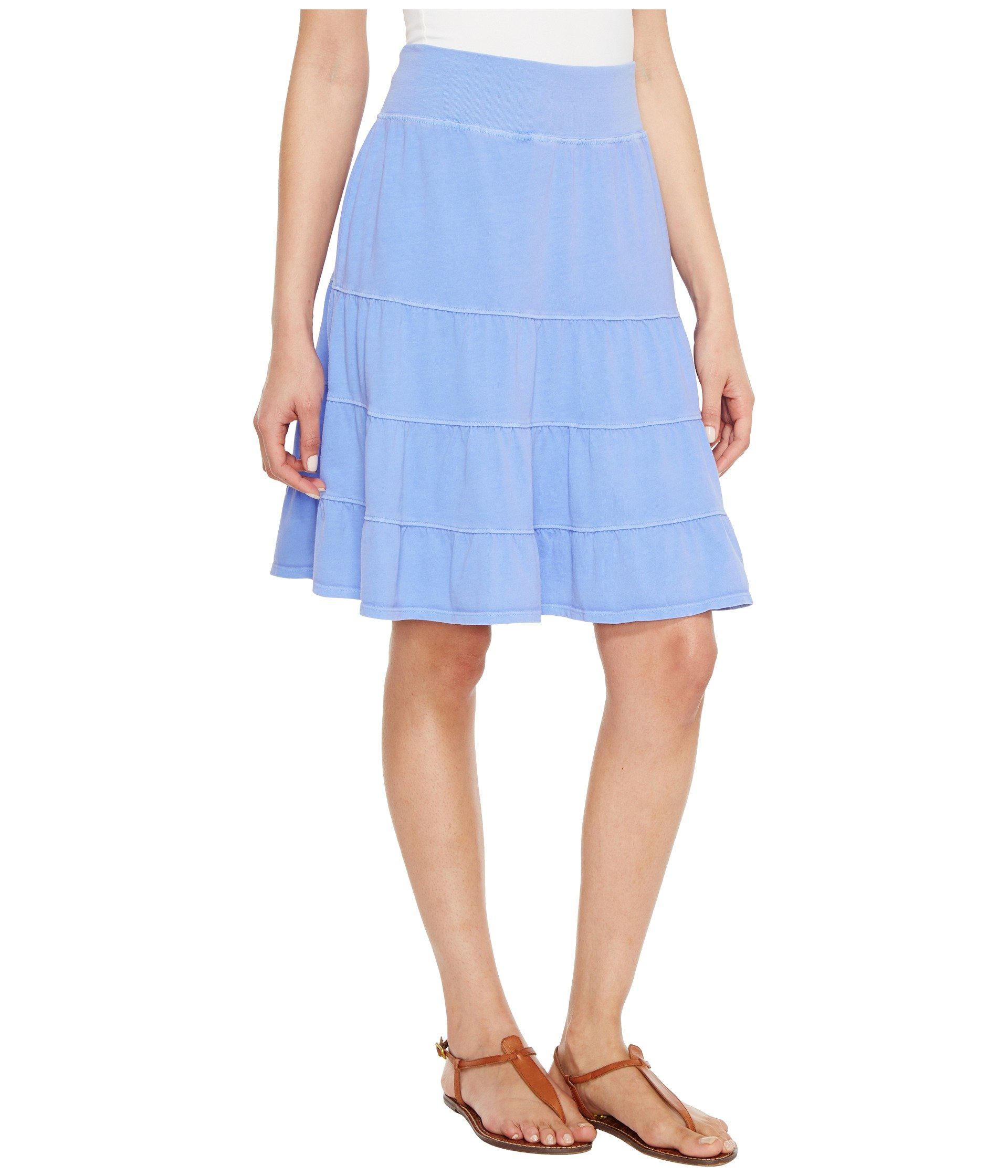 Tiered Jersey Produce Periwinkle Skirt Fresh AFpx6q