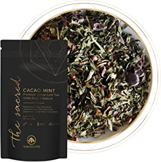 Cacao Mint Loose Leaf Tea ( 25+ cups) |Herbal |No Caffeine|Stress Relief | Chocolate Tea Peppermint |100% Pure + Natural |...