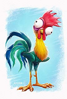 Disney Moana HEI HEI The Chicken Iron On Transfer for T-Shirts & Other Light Color Fabrics #2 Divine Bovinity