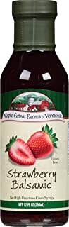 Maple Grove Farms Salad Dressing, Strawberry Balsamic Salad Dressing, 12 Ounce