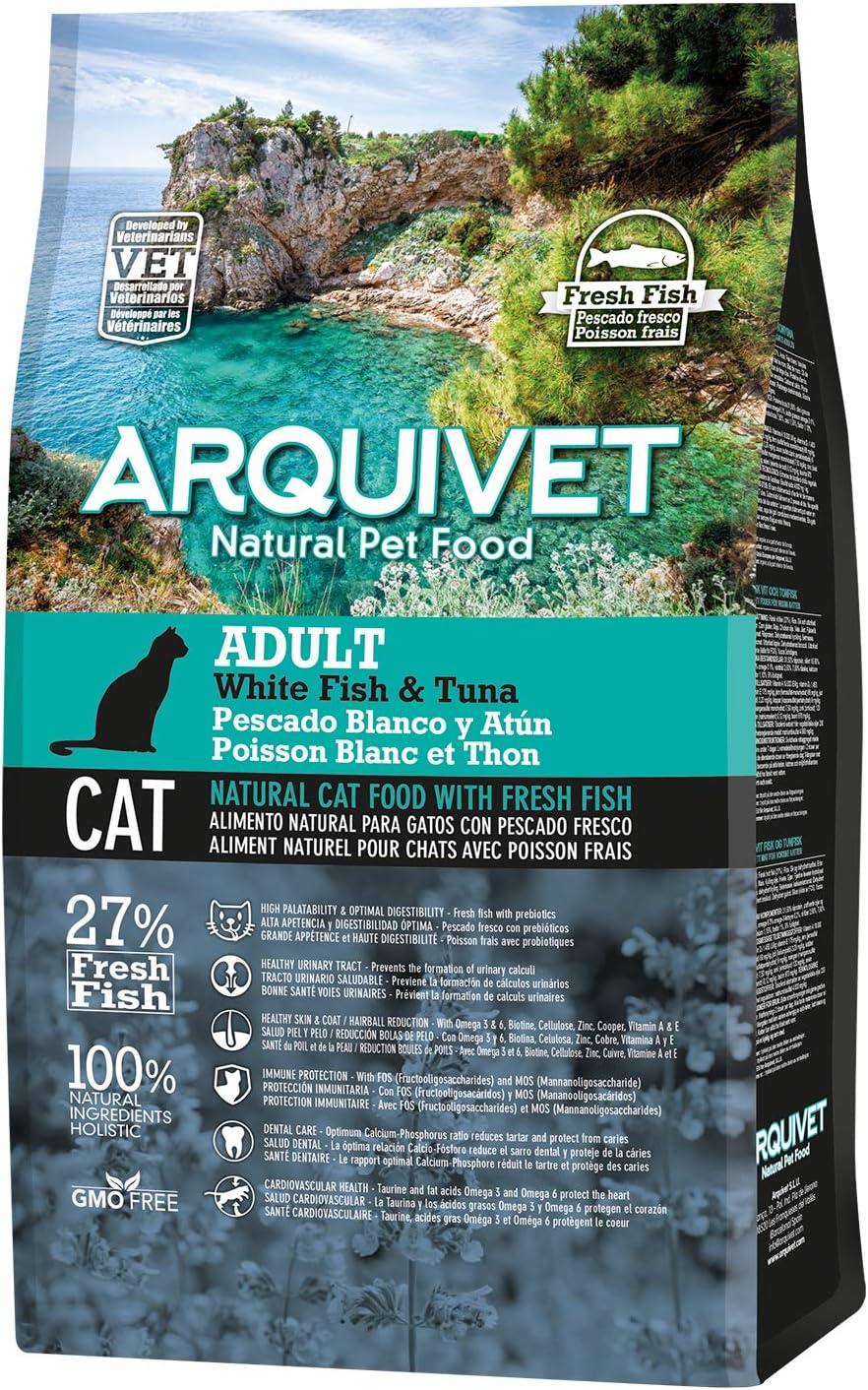 Arquivet Charity ASIN Pienso Natural para Gatos - Adult Pescado Blanco y atún - 1,5 kg