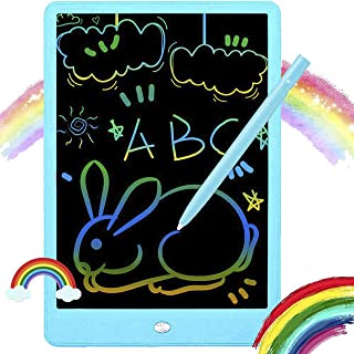 PURSOPHY LCD Writing Tablet Colorful Doodle Pad, 10 inches Drawing Board Writing Board, Kids Early Educational Drawing Tab...