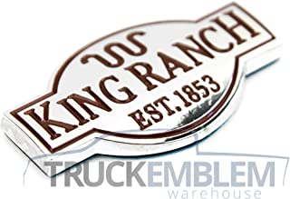 1 New Custom King Ranch Truck Interior Chrome Dash Emblem