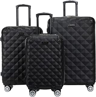 Kenneth Cole Reaction Diamond Tower Luggage Collection Lightweight Hardside Expandable 8-Wheel Spinner Travel Suitcase, Bl...