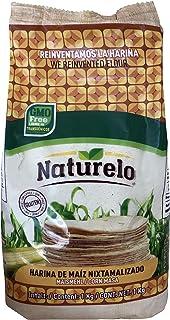 Naturelo Harina de Maíz Blanco Nixtamalizado, Autentico sabor a México, 1 kilogramos