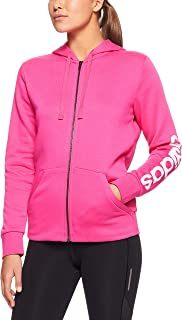 adidas Women's Essentials Linear Full Zip Hoodied Fleece Jacket
