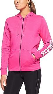 adidas Women's Essentials Linear Full Zip Hoodied Fleece Jacket