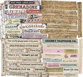 240Pcs Autocollants Papiers Etiquettes Scrapbooking Décoratifs Stickers Adhésif Anglais Phrases Gommettes Vintage Papeteri...