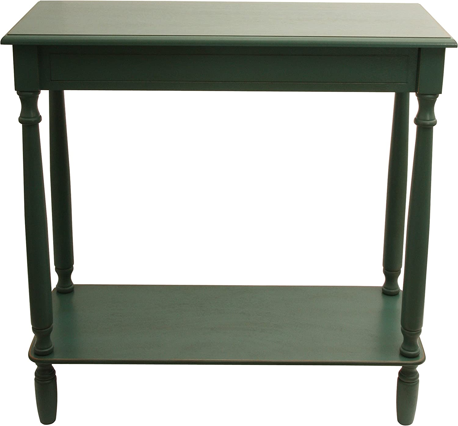 Décor Therapy Antique Teal Rectangle Console