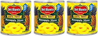 Del Monte Canned Fruit - 3 Pack Bulk Del Monte Pineapple Slices In Juice (45.75 oz Total)