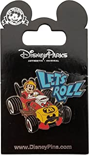 Disney Pin - Mickey Race car - Let's Roll