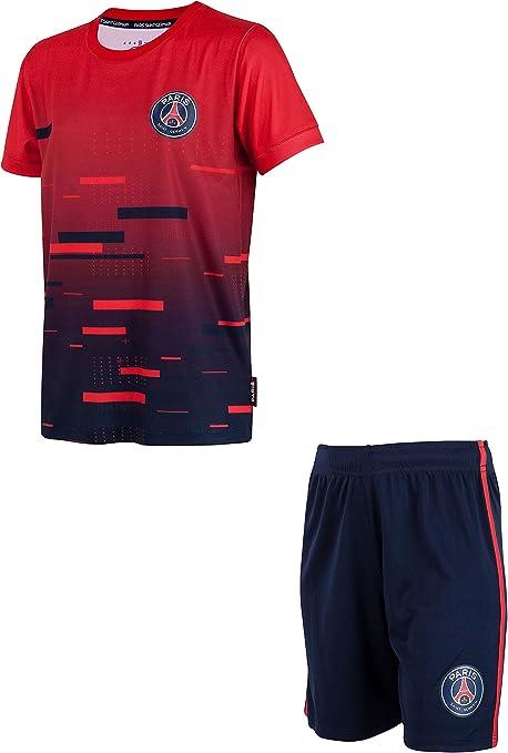 Paris Saint Germain - Completo maglia pantaloncini PSG, collezione ufficiale, taglia bambino 10 anni