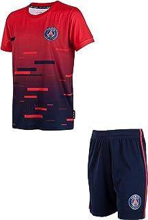 Paris Saint Germain – Conjunto de camiseta pantalón corto del PSG – Colección oficial para niño