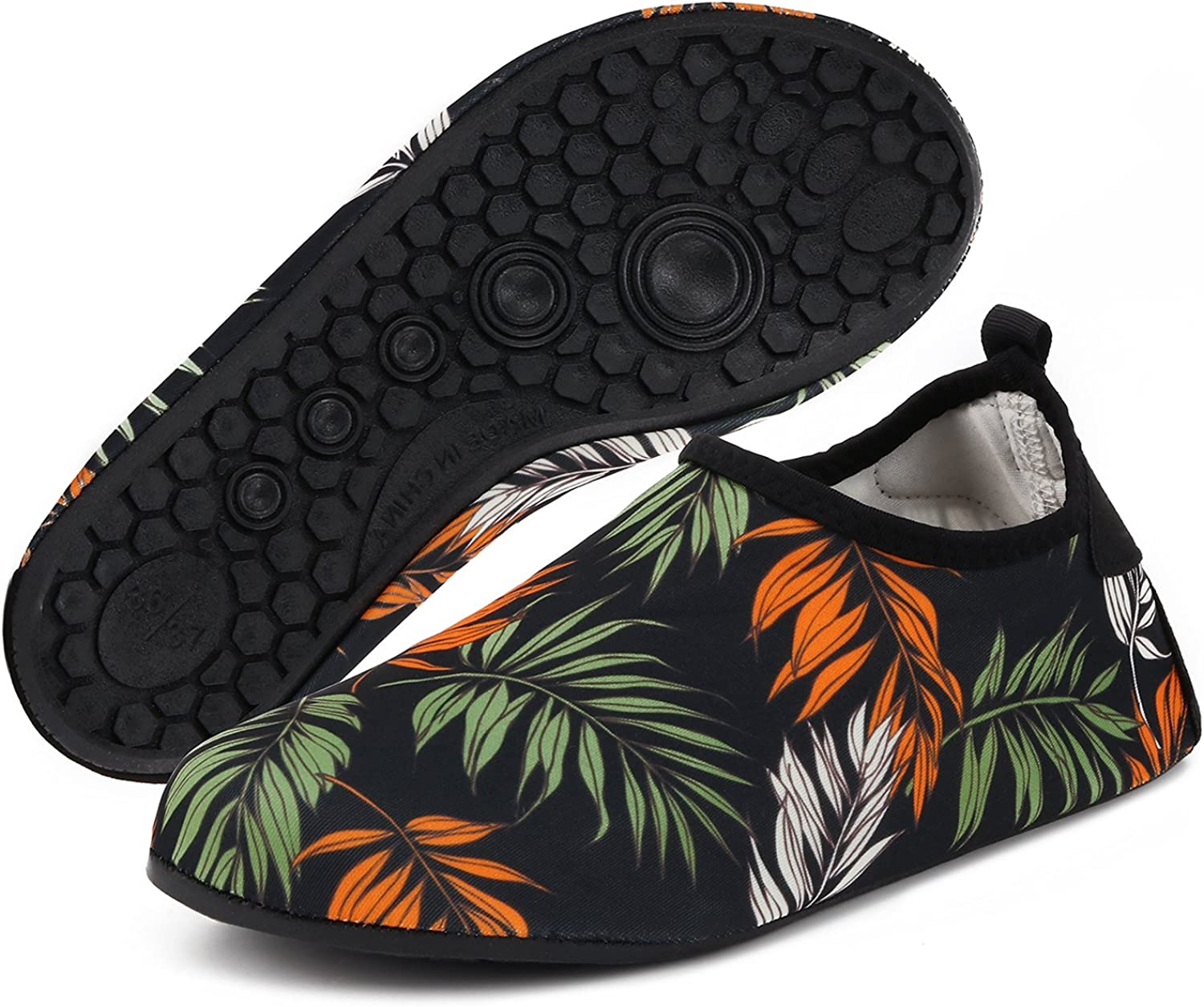 Yidomto Water shoes, Quick-Dry Barefoot Socks for Mens Womens Kids On Beach Pool Swim and Yoga