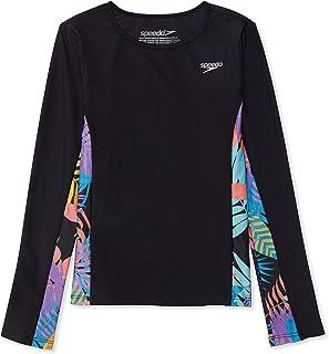 Speedo Girl's UV Swim Shirt Long Sleeve Rashguard