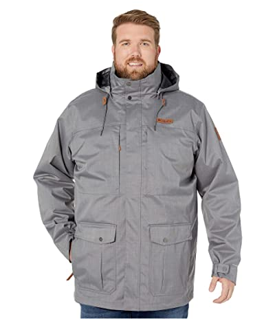 Columbia Big Tall Horizons Pine Interchange Jacket (City Grey/Shark) Men