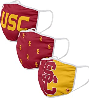 FOCO USC Trojans NCAA Face Cover - Adult - 3 Pack, Model Number: FACECOVERNCAA