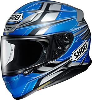 Shoei RF-1200 Full Face Motorcycle Helmet Rumpus TC-2 Blue/Grey Large (More Size Options)