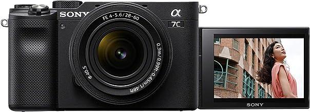 Sony Alpha 7C Spiegellose E-Mount Vollformat-Digitalkamera ILCE-7C (24,2 MP, 7,5cm (3 Zoll) Touch-Display, Echtzeit-AF, 5-Achsen Bildstabilisierung) incl. SEL-2860 Objektiv - Schwarz