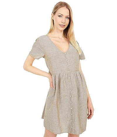 Madewell Linen Blend Button-Front Mini Dress