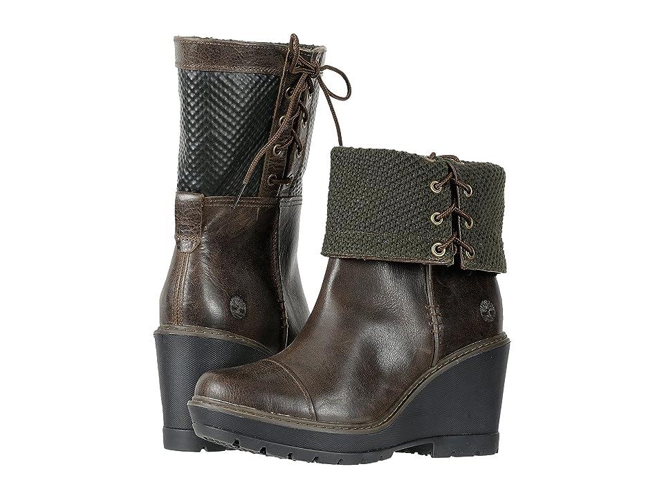 Timberland Kellis Mid Fold Down Boot (Olive Full-Grain) Women