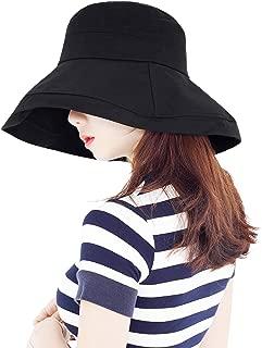 イーストワン(EASTONE) ワイド ブリム コットン バケットハット 顔が隠れる スッピン隠し メンズ&レディース シンプル帽子 無地帽子 ブリマーハット