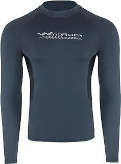 WindRider Men's Rash Guard Swim Shirt – Long Sleeve UPF 50+ Performance Fit