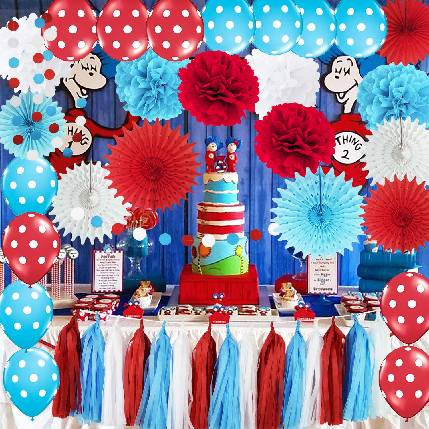 Party Decorations Turquoise Ballons Birthday