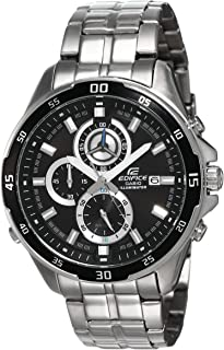 Casio Edifice Men's Black Dial Stainless Steel Band Watch - EFR-547D-1A