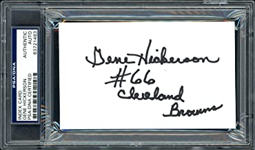 Gene Hickerson Autographed 3x5 Index Card Cleveland Browns