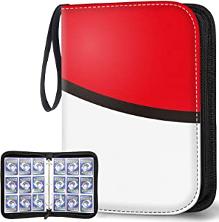 POKONBOY 9-Pocket Carrying Case Binder Fit for Pokemon Cards, 720 Pockets Trading Card Binder with Sleeves Card Holder Car...