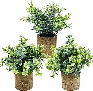 3pcs Plantes Artificielles Fleurs Artificielles, pour Bureau Intérieur Jardin Maison Table Décor