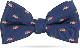 Christmas Bow Ties For Men Pre Tied Holiday Woven Bowtie Red Winter Bow Tie