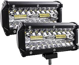 Zmoon Led Light Bar, 240W 24000lm Led Fog Light 7 Inch Led Driving Lights Off Road Lights with Spot&Flood Combo Beam, Waterproof Die-Casting Aluminum Alloy Shell for Jeep Boat UTV Truck ATV (2 Pack)
