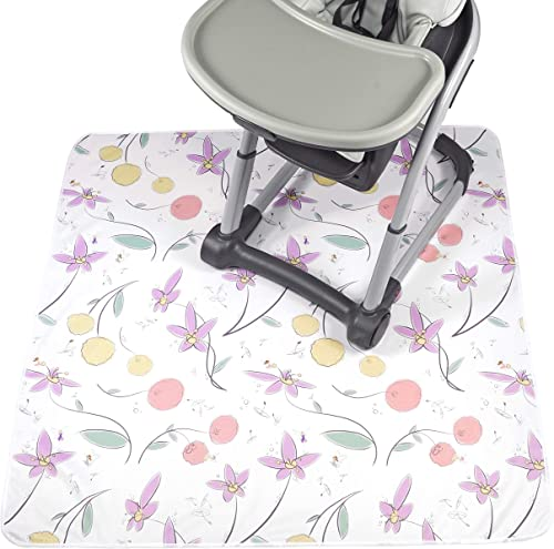 popular JumpOff Jo – wholesale Splat online sale Mat – Waterproof and Washable, for Under Highchair, Booster Seat, Tabletop, On Carpet - Protection from Spills, Messes, Crafts, Indoor-Outdoor – 51 x 51 inches – Floral Fairy online