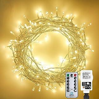 Othran Guirlande lumineuse 30 m 300 LED avec télécommande - Pour l'intérieur et l'extérieur - Étanche IP44 - Blanc chaud