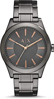 A|X Men's Gunmetal Tone Stainless Steel Watch AX2330