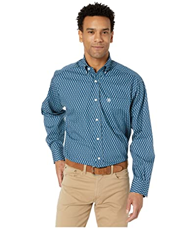 Ariat Wrinkle Free Mirmar Print Shirt (Deep Petroleum) Men