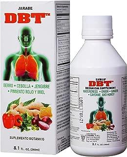DBT Syrup - Jarabe DBT Berro, Cebolla, Jengibre, Pimiento Rojo y Miel 8.1 Fl Oz