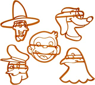 Set di 5 Tagliabiscotti a forma di personaggi di George (Curioso come George)