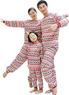 454c5442f BOZEVON Pijamas de Navidad Familia Conjuntos - Niños Niñas Ropa de Dormir  de Navidad Papá Mamá