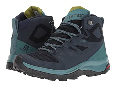 Salomon Outline Mid GTX(r) (Navy Blazer/Hydro/Guacamole) Women