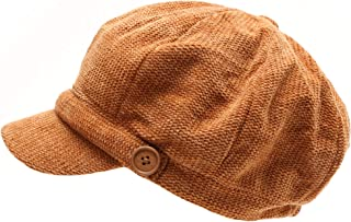 Women's Classic Visor Baker boy Cap Newsboy Cabbie Winter Cozy Hat with Comfort Elastic Back