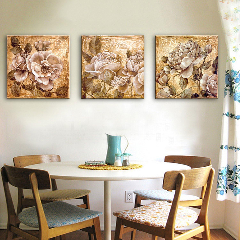 RUNDESHEBEI Y&M 3PCS ausgedehnte Segeltuch-Kunst-Elegante Blaumen-Dekoration-Malerei eingestellt, 60  60  3 B071WK4JDL  | Vielfalt