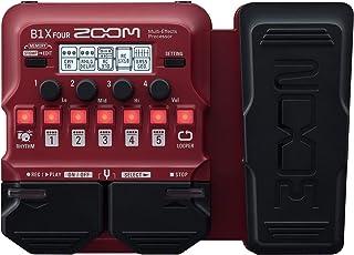 Zoom B1X procesador multiefectos para bajo guitarra con pedal de expresión, con más de 70 efectos integrados, modelado de ...