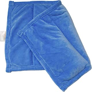 Sensory Jungle Weighted Lap Blanket: 3 Pound Weighted Lap Pad for Kids with Anxiety - Small Childrens Weight Blanket for Lap with Soft Minky Fabric (Blue)