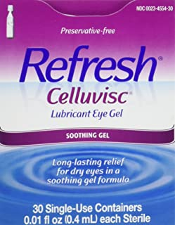Refresh Celluvisc Lubricant Eye Gel Single-use Containers 30 Ea (3 Pack)