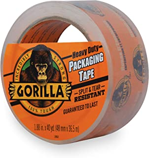 Gorilla Heavy Duty Large Core Packing Tape for Moving, Shipping and Storage, 1.88