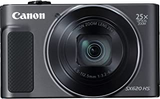 Canon PowerShot SX620 HS - Cámara digital compacta de 202 Mp (pantalla de 3 zoom óptico 25x WiFi NFC video Full HD) negro